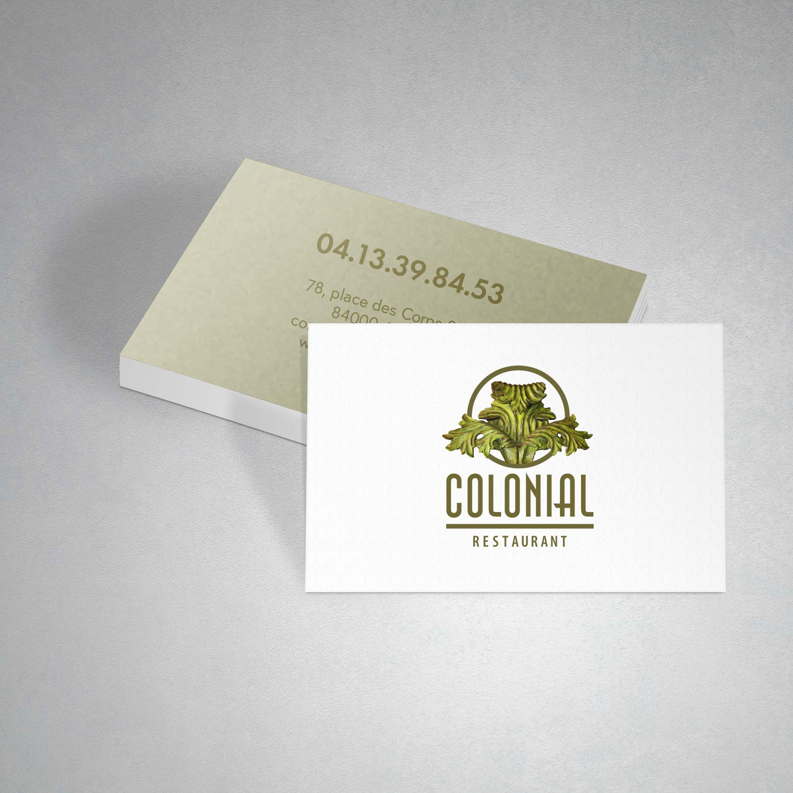 Carte De Visite Colonial